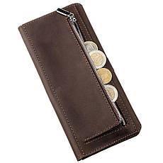 Бумажник мужской из винтажной кожи SHVIGEL 16207 Темно-коричневый, фото 3