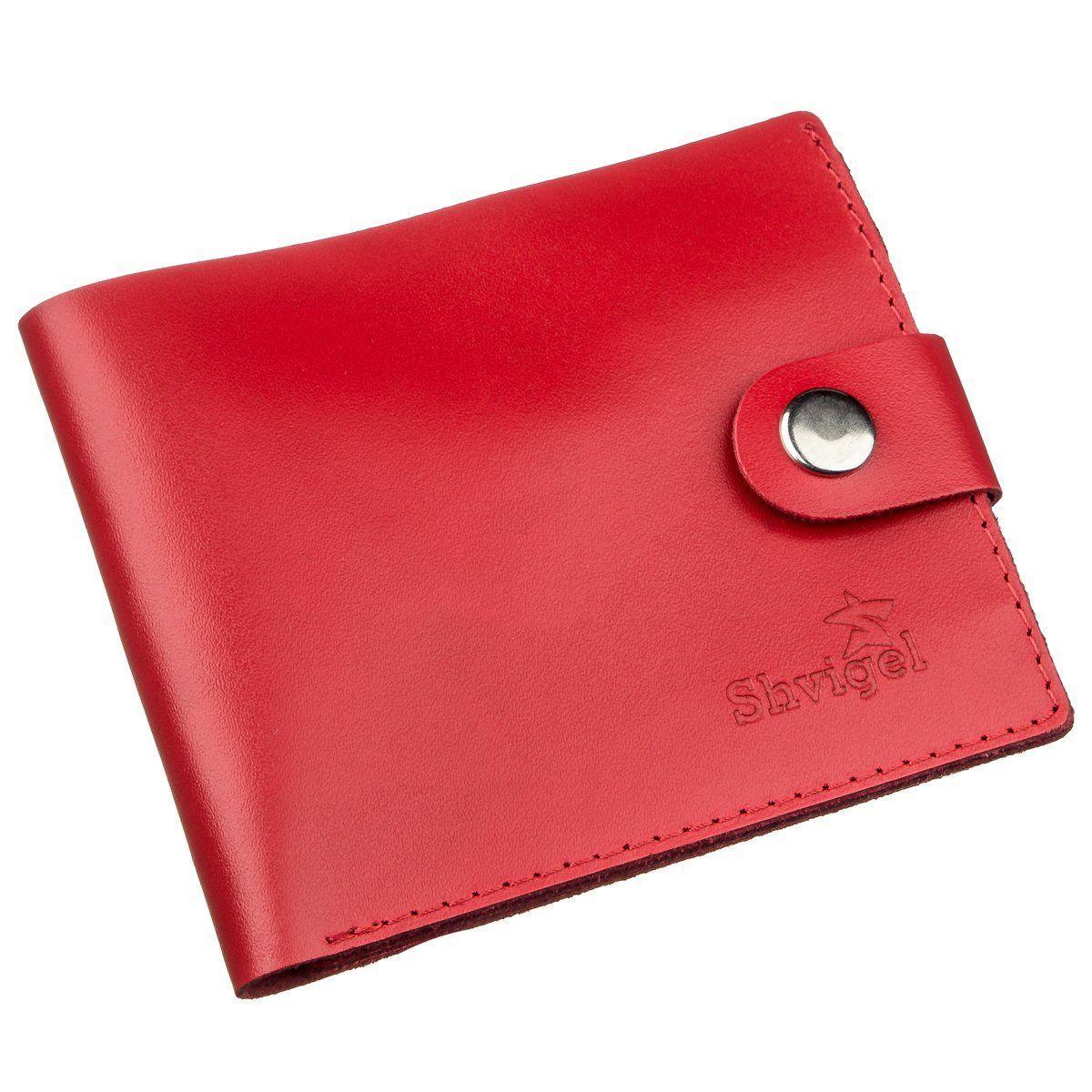 Портмоне женское с монетницей кожаное SHVIGEL 16210 Красное