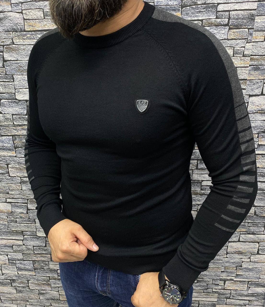 Мужская кофта Emporio Armani P0558 черная