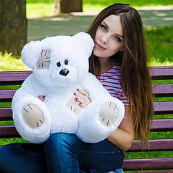 Плюшевые медведи: Плюшевый медвежонок Потап 0,5 метра (50 см), Белый