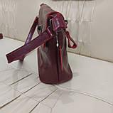Молодежная стильная женская сумочка из натуральной кожи Red, фото 4