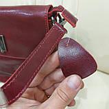 Молодежная стильная женская сумочка из натуральной кожи Red, фото 5