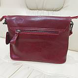 Молодежная стильная женская сумочка из натуральной кожи Red, фото 9