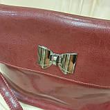 Молодежная стильная женская сумочка из натуральной кожи Red, фото 10