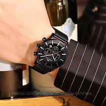 Часы оригинальные мужские наручные кварцевые Megalith 8089 Black-Cuprum / часы оригиналы черные, фото 2