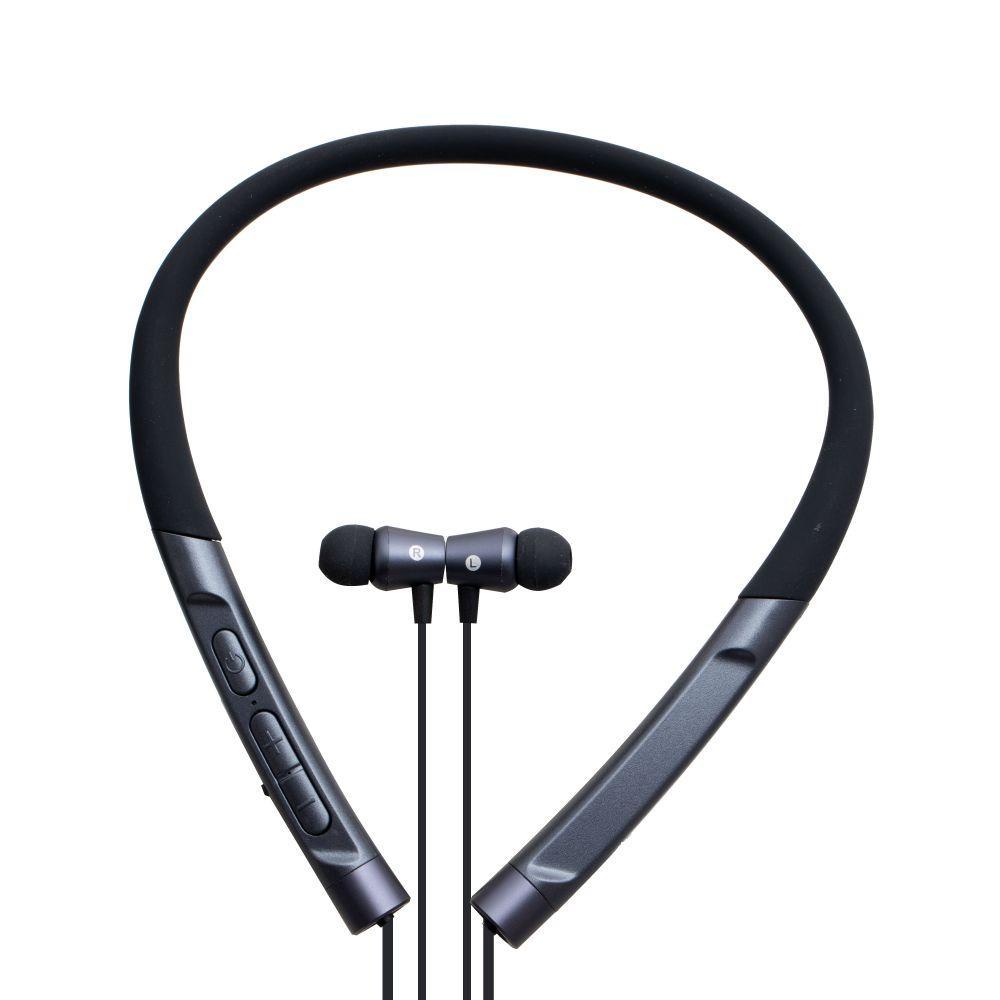 Наушники Bluetooth с шейным ремешком Yison E16 беспроводные, спортивные вакуумные,стерео гарнитура black