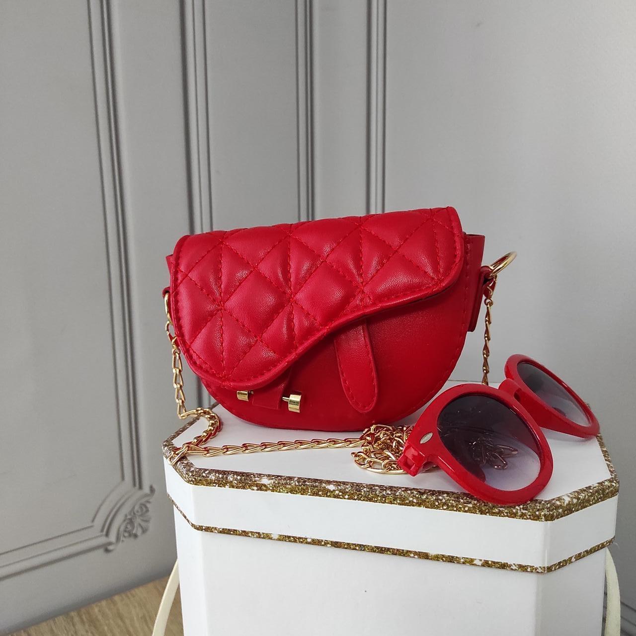 Мини кросс боди, красная сумка седло, Dior