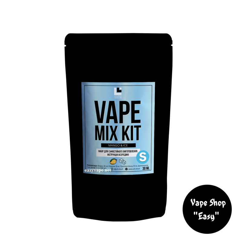 Набор для самозамеса Vape Mix Kit Mango Ice 30 мл солевой.