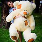 Плюшевые медведи: Плюшевый медвежонок Потап 1,5 метра (150 см), Персиковый, фото 3