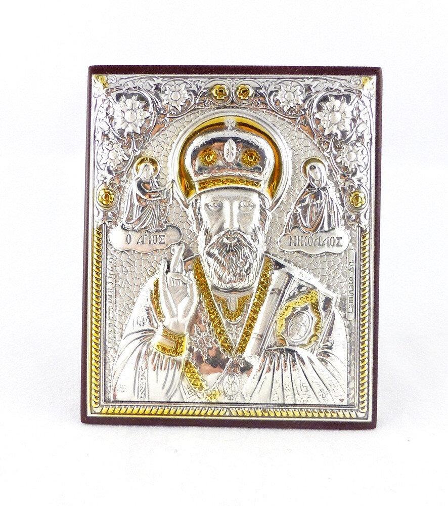 Ікона Святий Миколай на дерев'яній основі 1024