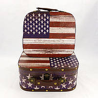 Чемодан набор из 2-х флаг США Гранд Презент SH31193-302