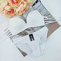 Комплект нижньої білизни Fnniss безшовний гладкий 80С білий (056)