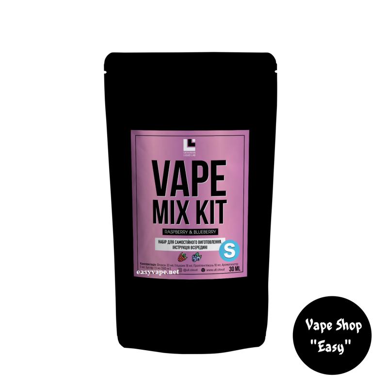 Набор для самозамеса Vape Mix Kit Raspberry Blueberry 30 мл солевой.