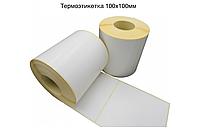 Термоэтикетка 100х100 мм ЕСО (намотка 500 в рулоне)