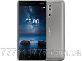 Смартфон серебристый с двойной камерой и нфс модулем на 2 сим карты Nokia 8 4/64 silver NFC (Гарантия 12 мес)