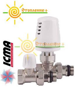 """Комплект термостатический Icma 1/2"""" с антипротечкой прямой"""