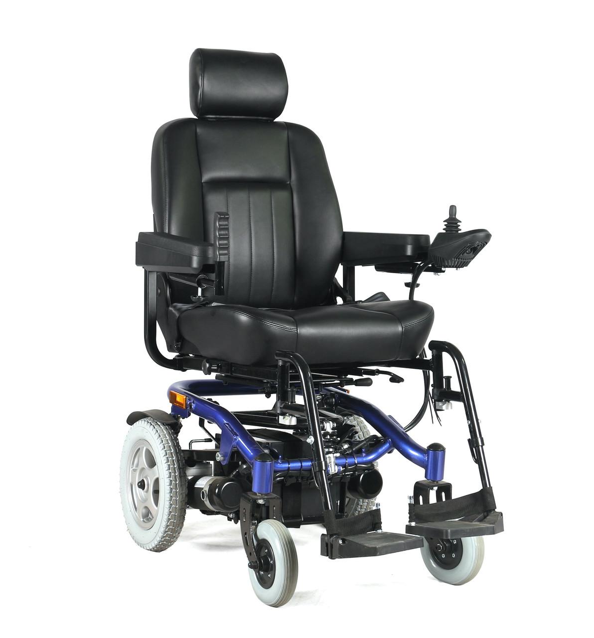 Електричний візок для інвалідів W-1024. Інвалідна коляска. Широке сидіння 50 см.