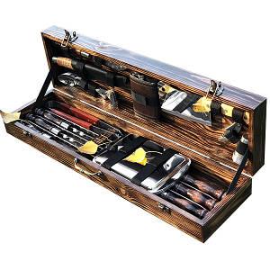"""Набор шампуров """"Кабан МАХ"""" Gorillas BBQ в деревянной коробк"""