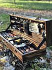 """Набор шампуров """"Кабан МАХ"""" Gorillas BBQ в деревянной коробк, фото 3"""