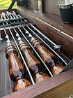 """Набор шампуров """"Вепрь"""" Gorillas BBQ в деревянной коробке, фото 6"""