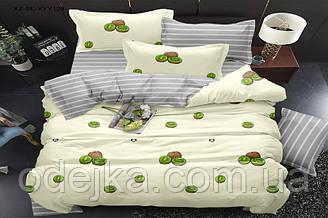 Двоспальний комплект постільної білизни євро 200*220 сатин (15965) TM КРИСПОЛ Україна