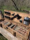 "Набор шампуров ""Витязь"" Gorillas BBQ в деревянной коробке, фото 4"