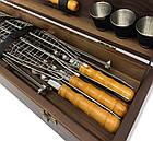 """Набор шампуров """"Косуля"""" Gorillas BBQ в деревянной коробке, фото 3"""