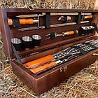 """Набор шампуров """"Косуля"""" Gorillas BBQ в деревянной коробке, фото 8"""