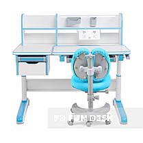 Комплект для мальчика👦 стол-трансформер FunDesk Libro Blue+эргономичное кресло FunDesk Solerte Blue, фото 2