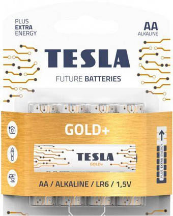 Батарейки TESLA AA GOLD+ (LR06), 4 штуки