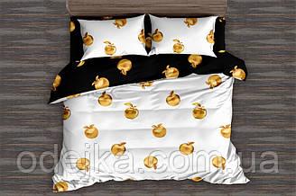 Двуспальный комплект постельного белья 180*220 сатин (15894) TM КРИСПОЛ Украина
