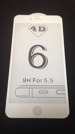 Защитное стекло iPhone 6+ 5D, цвет - white, фото 2
