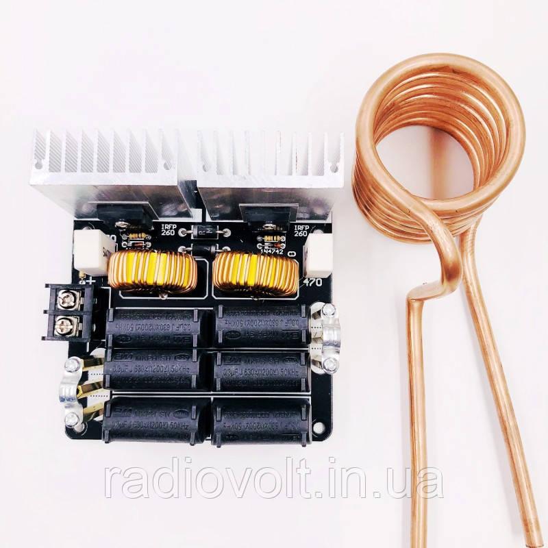 ZVS 20A, 1000Вт вихревой индукционный нагреватель. Питание 12-48В