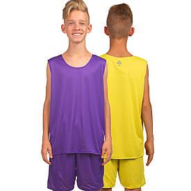 Форма баскетбольна дитяча двостороння сітка Lingo (125-165 см) фіолетова LD-8300T, 125-135 см 135-140 см