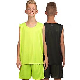 Форма баскетбольна дитяча двостороння сітка Lingo (125-165 см) салатовий LD-8300T, 125-135 см