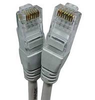 Патч-корд для интернета LAN кабель UKC 13525-8,5 м RJ-45 Белый
