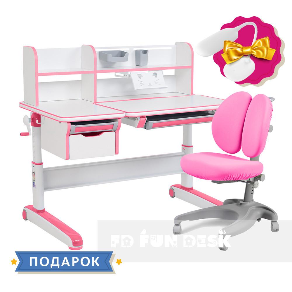 Комплект для принцессы👸 стол-трансформер Libro Pink+эргономичное кресло FunDesk Solerte Pink