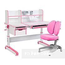 Комплект для принцессы👸 стол-трансформер Libro Pink+эргономичное кресло FunDesk Solerte Pink, фото 2