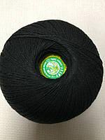 """Нитка для вязания """"Лилия"""" хлопок 100% цвет черный"""