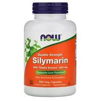 Силимарин двойной концентрации, Now Foods, 300 мг, 200 растительных капсул, фото 1