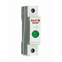 Світлосигнальний індикатор AD 22M зелений LED, 230В на DIN-рейку ElectrO AD22MLG