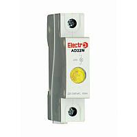 Світлосигнальний індикатор AD 22M жовтий LED, 230В на DIN-рейку ElectrO AD22MLY