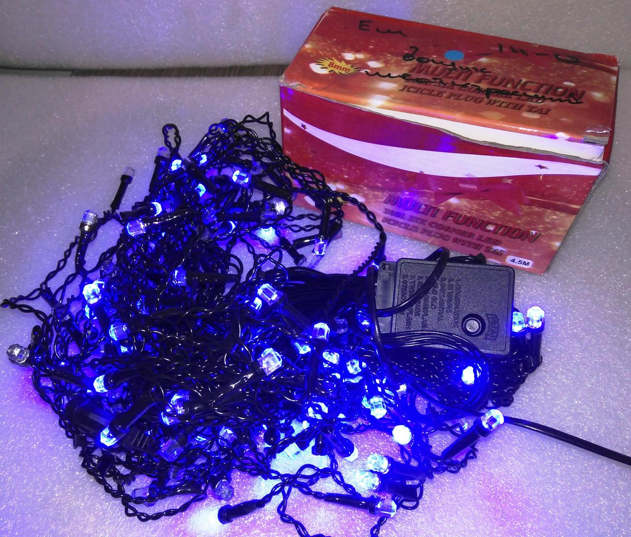 Дощик  шестигранний 200 LED 4,5 метрів, синій