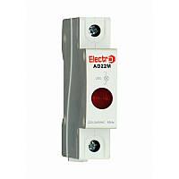 Світлосигнальний індикатор AD 22M червоний LED, 230В на DIN-рейку ElectrO AD22MLR