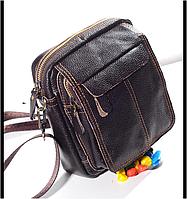 Мужская сумка-барсетка, натуральная кожа