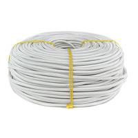 ElectroHouse Провід в текстильній обплетенні 2х0,5 білий