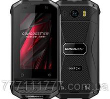 Смартфон противоударный, черный с нфс модулем на 2 сим карты Conquest F2 Luxury Version 3/32 (Гарантия 12 мес)