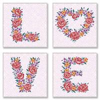 Набор для росписи по номерам LOVE flowers ТМ Идейка СН125