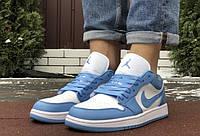 Мужские кроссовки  Nike Air Jordan 1 Low     Пресс кожа