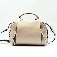 Женская сумка бежевая маленькая повседневная натуральная кожа, фото 1